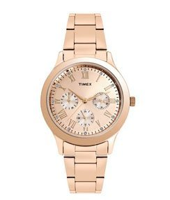 Timex Analogue Gold Dial Watches For Women-TW000Q810