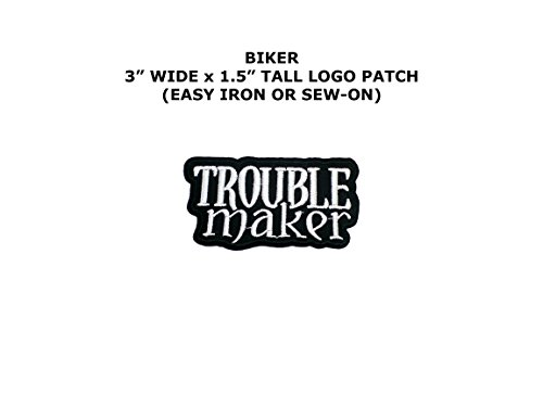 Trouble Maker Embroidered Iron/Sew-on Comic Cartoon Theme Logo Patch/Applique