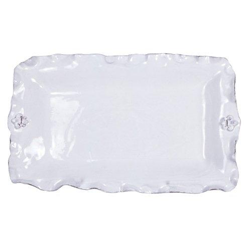 Abigails Fleur De Lis White Rectangular Platter