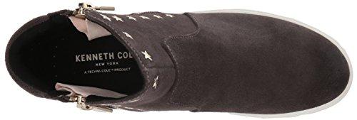Kenneth Cole New York Womens Kiera Star Mid-height Ritsen Aan Zijkanten En Stud Verfraaiing Sneaker Asphault