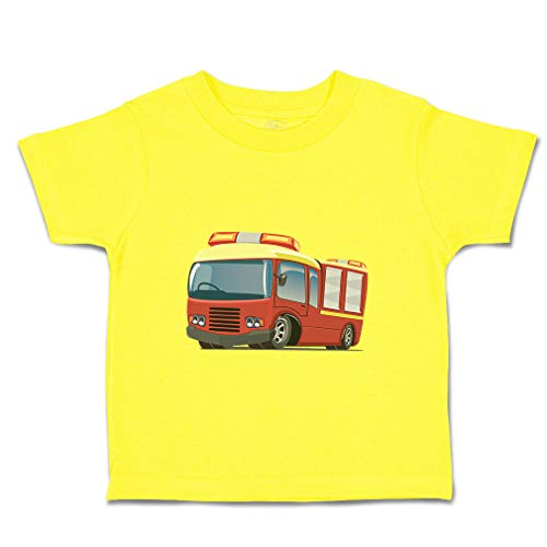 (Custom Baby & Toddler T-Shirt Large Rescue Car Cotton Boy & Girl Clothes Funny Graphic Tee Yellow Zest Design Only 7T)