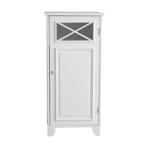 Elegant Home Fashions Dawson Floor Cabinet With Single Door, White
