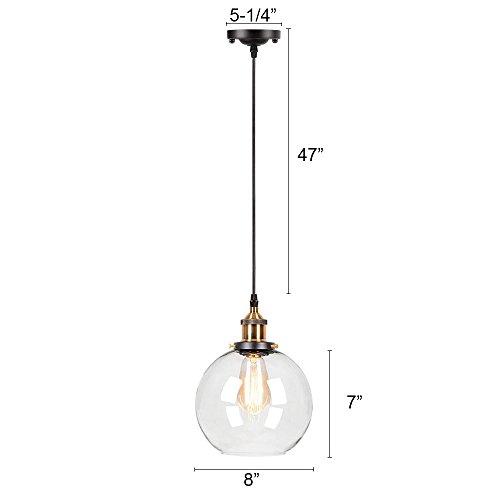 Frideko 2 Pack Of Vintage Industrial Ball Glass Lampshade