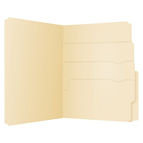 Pendaflex Divide It Up File Folders, Letter Size, Manila, 24/Pack (10770)