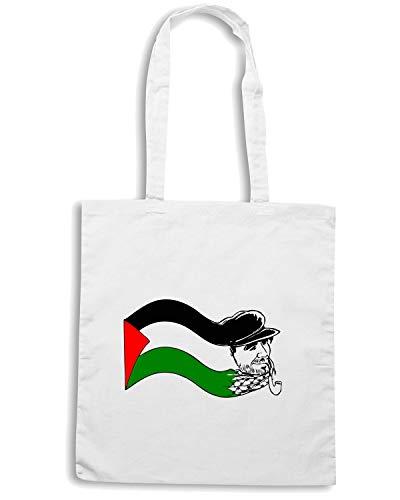 Shopper PALESTINE T 1 FREE Shirtshock Bianca TM0562 Borsa xrqEY0XE