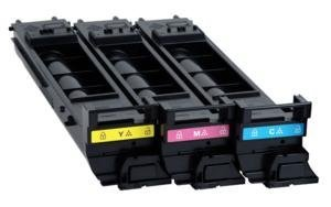 Konica Minolta magicolor 4690M High Capacity Toner Value Kit (Includes 1 Each of A0DK232 A0DK332 A0DK432) - Genuine OEM toner