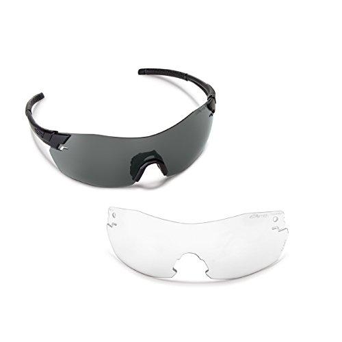 Smith Optics Elite Pivlock V2 Max Tactical Sunglass, Gray/Clear, Black by Smith Optics