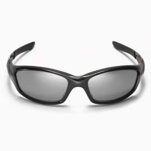 New Walleva Polarized Titanium+Black Lenses For Oakley Straight Jacket