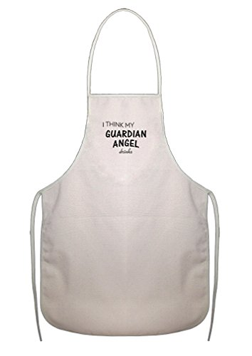 I Think My Guardian Angel Drinks Cotton Canvas Duck Artist Cook Apron Apron Angels Apron