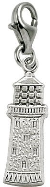 Rembrandt Charms Gibbs Lighthouse, Bermuda Charm with Lobster Clasp, Sterling Silver (Rembrandt Lighthouse Charm)