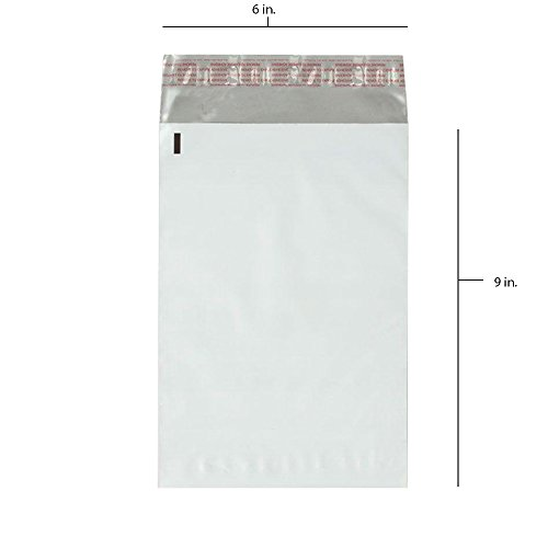 100 - 6x9 Fosmon Self-Seal Tear-Proof Polyethylene Mailers (100 - Lable Ups
