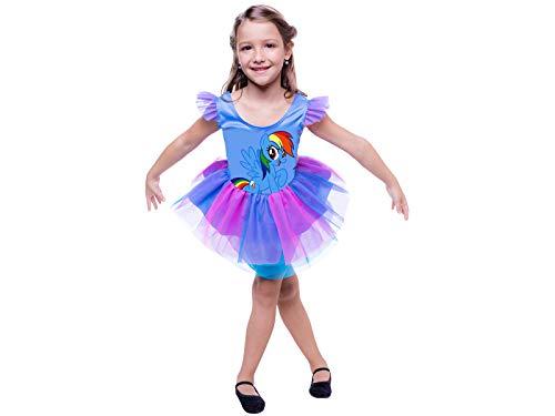 Fantasia My Little Pony Rainbow Dash Pop Gbl G - Pacote Com 01 Un Regina Colorida Grande