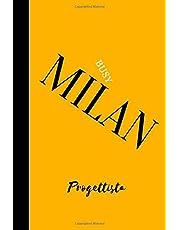 Attivo Milan Progettista: Daily Planner; MISURA TASCA PIANIFICAZIONE GIORNALIERA, GIORNALE, TACCUINO.
