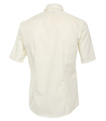 Venti - Slim Fit - Bügelfreies Herren Kurzarm Hemd in diversen Farben (001620), Kragenweite:44;Farbe:Creme (002)