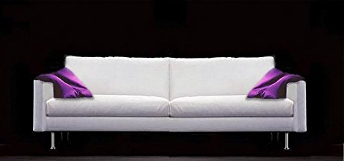 Calia Maddalena–Sofa Design Cindy Leder geschliffen Divano 2posti - 185x88x90 cm Pelle Smerigliata Sabbia