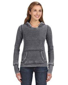 Ladies ZEN Pullover Hooded Sweatshirt- Dark Smoke Gray
