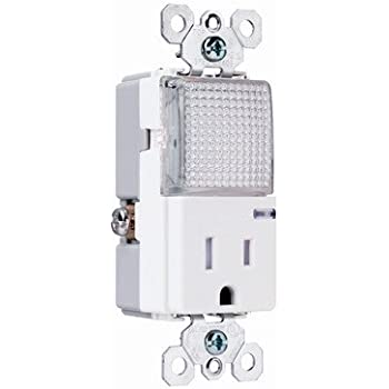 Pass & Seymour TM8HWLTRWCC Tamper-Resistant Outlet/Nightlight, White