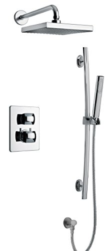 LaToscana LA-OPTION2OK Lady Thermostatic Valve with 2 Way Diverter Volume Control, Matt Gold