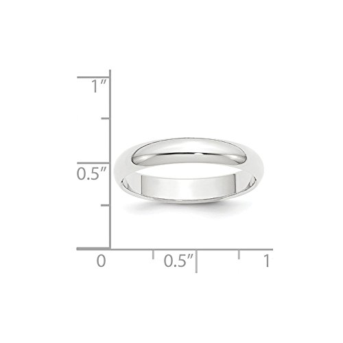 Platinum 4mm Half-Round Wedding Band Size 7.5 by Diamond2Deal (Image #1)