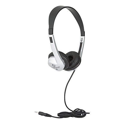 Egghead EGG-IAG-1008FA-BK-SO-20 Heavy-Duty Stereo School Headphones W/Leatherette Ear Cushion & Tangle-Free Cord- (Pack of 20), Black