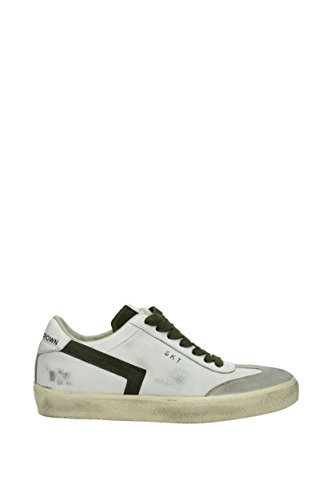 LEATHER CROWN HOMME MLC792 BLANC/NOIR CUIR BASKETS EVdnb7u