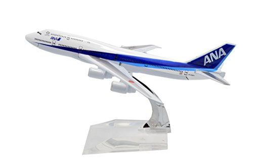 TANG DYNASTY(TM) 1:400 16cm Boeing B747-200 ANA Airlines Metal Airplane Model Plane Toy Plane Model