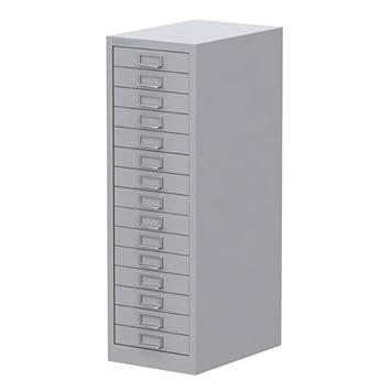 separation shoes 24da0 32194 Bisley 15 Drawer Cabinet Grey