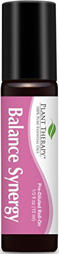 (Plant Therapy Balance (for women) Synergy Pre-Diluted Essential Oil Roll-On. Ready to use! 100% Pure, Therapeutic Grade Essential Oils Diluted in Fractionated Coconut Oil. 10 ml (1/3 oz).)