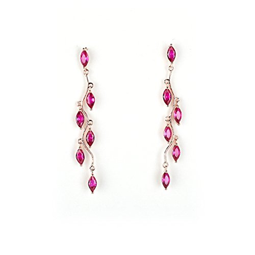 it Flower Drop Dangle Earrings for Woman Girls (Wine) (Swarovski Clear Crystal Chandelier Earrings)