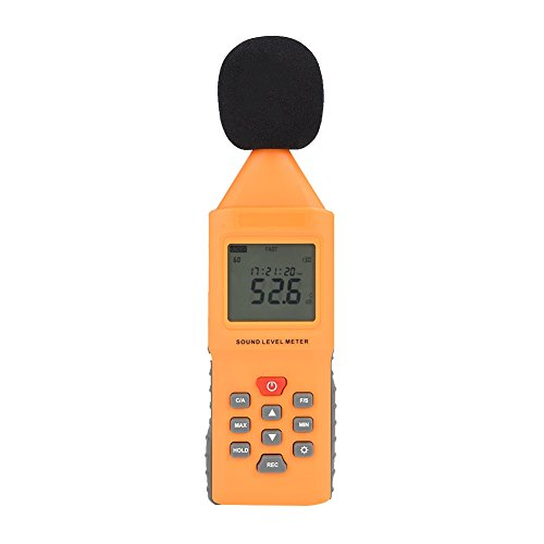 TOOLTOO Decibel Meter Portable Sound Level Meter Tester with Large LCD Screen Display, Black and Yellow