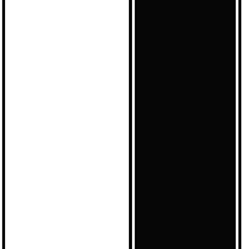 Norwall BW28714 Large Scale Stripe Wallpaper, Black (Large Scale Stripe Wallpaper)