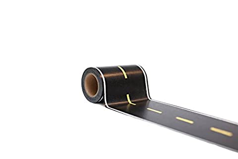 Car Tape, Extra Long and Wide! 3.5 in x 50 ft, Toy Car Road Tape Track for Kids, Great Accessory to Die Cast Cars and Train Sets. Sticker with Printed Street to Play on Floors.