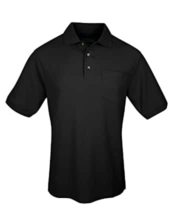 Big Mens Signature Combed Cotton Pique Pocket Polo Golf Shirt