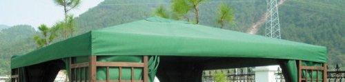 Pavillon Ersatzdach 3x3 Meter - grün - wasserdicht - Pavillondach