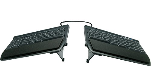 Kinesis Freestyle2 Ergonomic Keyboard w/ VIP3 Lifters for PC (9″ Separation)