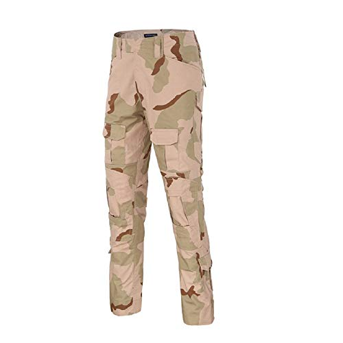 Satankud Tactical Pants Airsoft Camping Hiking Hunting Ripstop Combat Pants Army Camo Uniform Military Trousers Tricolor Desert S