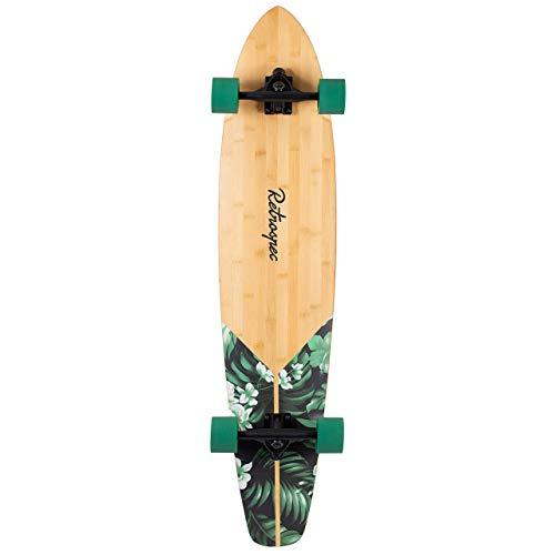 Retrospec Zed Bamboo Longboard Skateboard Complete Cruiser (Renewed)