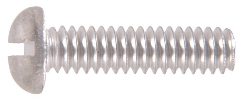(The Hillman Group The Hillman Group 1133 Aluminum Round Head Slotted Machine Screw 1/4-20 x 1 1/2 In. 16-Pack)
