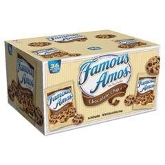 Famous Amos Chocolate Chip Cookies, 2 Oz, Box Of 36