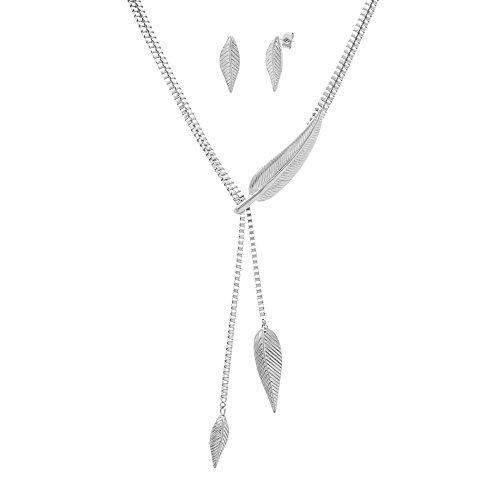 [Stainless Steel Textured Leaf 18