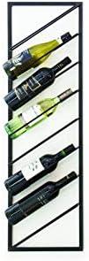 Botellero de vino de pared: si desea mantener su colección de botellas de vino en orden, este elegan