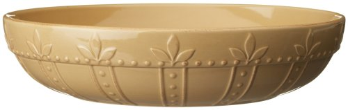 Sorrento Collection 12-Inch Large Pasta Bowl, Wheat Finish (Gold Three Part Serving Dish)