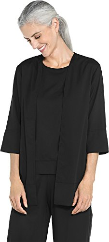 - Coolibar UPF 50+ Women's Ibiza Garden Party Wrap - Sun Protective (X-Large- Black)