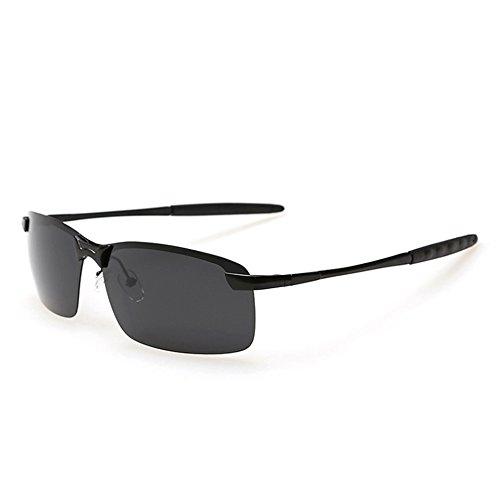 de Black Sunglasses Gray de Lunettes TL de Lunettes Film Hommes Soleil Couleur Conduite du Hommes Polarisée Sport RqFxOZwU