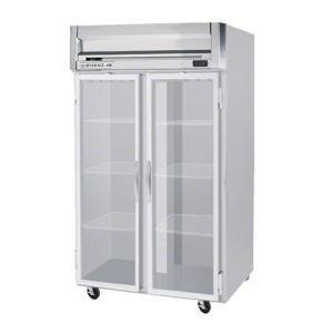 Beverage-Air HFP2-1G Horizon Series Two Section Glass Door Reach-In Freezer 49 cu.ft. Capacity Stainless Steel Front and Sides Aluminum