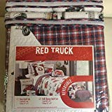 Antique Fire Engine - RED TRUCK kids 3PC FULL QUEEN QUILT SET antique firetruck fire truck engine NEW