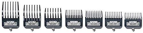 Andis Master Series Premium Metal Hair Clipper Attachment Comb 7 Piece Set, 33645