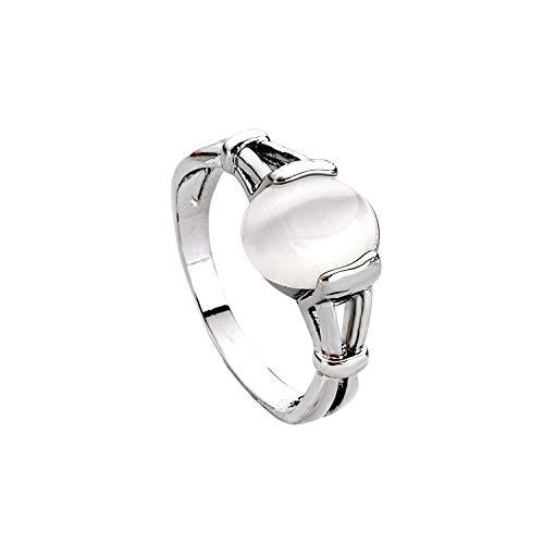 LUREME Fashion Alloy Twilight Saga Bella Natural Cateye Stone Women's Ring-U (04001479-5) Size -