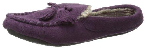 Pantofola Isotoner Da Donna Microsuede Hoodback Moc Slipper Vino