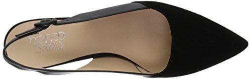 VELLEZ Fashion Women's Black Sarto Sandals Franco Suede qT8vAv